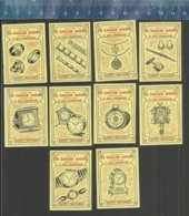 SINT GILLIS DENDERMONDE HUIS DE SAEGER PENDULES BIJOUX CLOCK CLOCKS UHR WATCH HORLOGE HORLOGES UURWERK (matchbox Labels) - Matchbox Labels