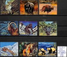 NB - [830130]TB//**/Mnh-Bhoutan 1970 - Adhésifs En Relief, Animaux Sauvages, Éléphants, Rhinocéros, Tigres, Panda, Singe - Bhutan