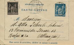 ROUEN - 1909 , CARTE - LETTRE  , Kartenbrief - Nach Berlin - Ganzsachen