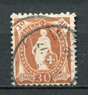 Schweiz Nr.90 D         O  Used       (1417) K11,5:12 - 1882-1906 Coat Of Arms, Standing Helvetia & UPU