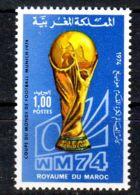 11.10.1974; Fussballweltmeisterschaft, Mi-Nr. 776, Postfrisch, Los 51691 - Marocco (1956-...)