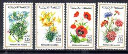 10.1.1975; Blumen, Mi-Nr. 793 - 796, Postfrisch, Los 51692 - Marocco (1956-...)