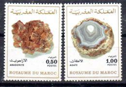 14.2.1975; Mineralien, Mi-Nr. 797 + 798, Postfrisch, Los 51693 - Morocco (1956-...)