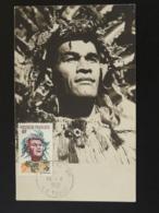 Carte Maximum Card Danseur Tahitien Costume Polynésie 1960 Ref 94350 - Cartes-maximum