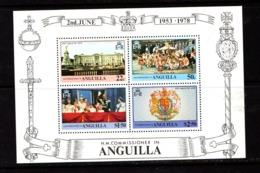 ANGUILLA    1978    25th  Anniv  Of  Coronation    Sheetlet    MNH - Anguilla (1968-...)