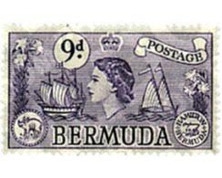 Ref. 300438 * HINGED * - BERMUDAS. 1953. DIFFERENT CONTENTS . MOTIVOS VARIOS - Bermudas