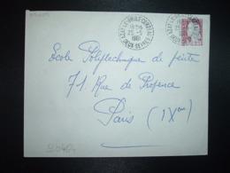 LETTRE TP M. DE DECARIS 0,25 OBL. Tiretée 25-5 1961 AZAY-LE-BRULE-CERZEAU DEUX-SEVRES (79) - Postmark Collection (Covers)