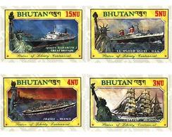 Ref. 292370 * MNH * - BHUTAN. 1986. CENTENARY OF THE STATUE OF LIBERTY . CENTENARIO DE LA ESTATUA DE LA LIBERTAD - Bateaux