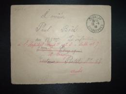 LETTRE OBL. Tiretée 18-9 16 COURLAY DEUX-SEVRES (79) Réexpédiée Pour HOPITAL COMPLEMENTAIRE TROYES (10 AUBE) - Oorlog 1914-18