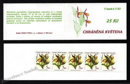 Czech Republic - Tcheque 1997 Yvert C133, 25K, Flora, Protected Flowers - Booklet -  MNH - Nuevos