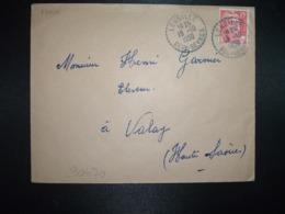 LETTRE TP M. DE GANDON 15F OBL. Tiretée 19-10 1950 LOUBILLE DEUX-SEVRES (79) - Cachets Manuels