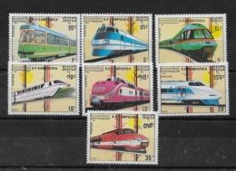 Serie De Kampuchea Nº Yvert 864/70 ** TRENES (TRAINS) - Kampuchea