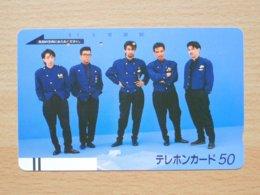 Japon Japan Free Front Bar, Balken Phonecard / 110-10080 / Group / Music - Musik