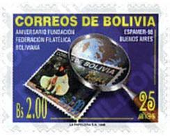 Ref. 204376 * MNH * - BOLIVIA. 1998. ESPAMER 98. EXPOSICION FILATELICA  EN BUENOS AIRES 25 ANIVERSARIO DE LA FUNDACION F - Bolivie