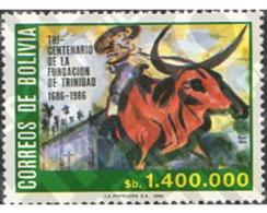 Ref. 238008 * MNH * - BOLIVIA. 1986. 3rd FOUNDING CENTENARY OF TRINIDAD TOWN . TRICENTENARIO DE LA FUNDACION DE LA VILLA - Bolivie