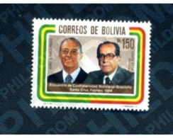 Ref. 292428 * MNH * - BOLIVIA. 1984. ENCUENTRO DE CONFRATERNIDAD BOLIVIANO-BRASILEÑO - Bolivie