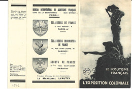 KB046 - FEUILLET LE SCOUTISME FRANCAIS - EXPOSITION COLONIALE DE 1931 - Padvinderij