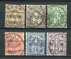 Schweiz Nr.82/7         O  Used       (1422) - 1882-1906 Coat Of Arms, Standing Helvetia & UPU