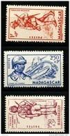 Madagascar (1941) N 226 à 228 * (charniere) - Madagascar (1889-1960)