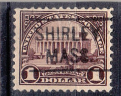 USA Precancel Vorausentwertung Preo, Locals Massachusetts, Sherill 571-455 - United States