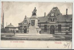 VILVORDE (Vilvoorde) Le Monument Portaels  - La Gare 1903 - Gares - Sans Trains