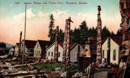 INDIAN VILLAGE ALASKA. - INDIOS // INDIANS - Estados Unidos