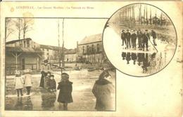 54 LUNEVILLE LES GRANDS MOULINS AU BORD DE LA VEZOUZE GELEE EN HIVER - Luneville