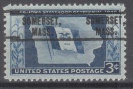 USA Precancel Vorausentwertung Preo, Locals Massachusetts, Somerset 735 - United States