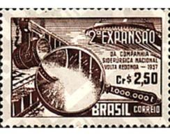 Ref. 57766 * MNH * - BRAZIL. 1957. NATIONAL IRON AND STEEL INDUSTRY . SIDERURGIA NACIONAL - Eisenbahnen