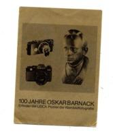 Carte  Barnack Pionner Photographie  Leica Cachet  Energie Lunette - Famous People