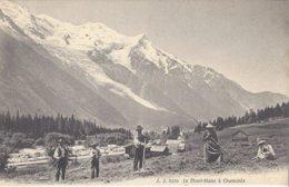 74 CHAMONIX MONT BLANC TRAVAUX DES CHAMPS Editeur Jullien Frères JJ 8106 - Chamonix-Mont-Blanc