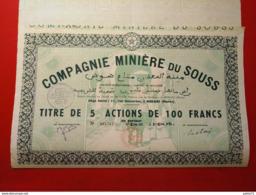 MAROC / COMPAGNIE MINIERE DU SOUSS - Africa