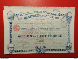 SOCIETE BELGE - ROUMAINE DE TRANSPORTS & D' INDUSTRIE - Railway & Tramway
