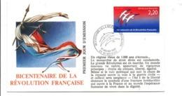REVOLUTION FRANCAISE - LES VILLES PREFECTURES FETENT LE BICENTENAIRE - SAINT BRIEUC COTE D'ARMOR - French Revolution