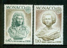 MONACO 1974 Mi 1114-15** Europa CEPT - Sculptures [A3209] - 1974