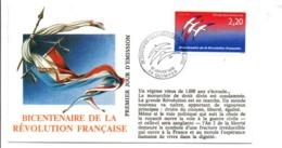 REVOLUTION FRANCAISE - LES VILLES PREFECTURES FETENT LE BICENTENAIRE - QUIMPER FINISTERE - French Revolution