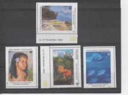 POLYNESIE Française - Peintres En Polynésie : Tableaux  De Micelle Villemin, Michèle Dallet, Johel Blanchard, P. Lacoutu - Polynésie Française