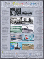 St. Pierre Und Miquelon 2000 Jahrtausendwende Millennium Fischerei Fishery Gaulle Hafen Erdöl Oil Airport, Mi. 811-0 ** - Nuovi