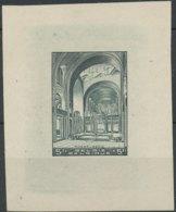 D - [62141]TB//-1938 : Koekelberg, Epreuve Du Coin (état Achevé) En Vert-gris (couleur Adoptée Mais Nuance Non Adoptée) - Essais & Réimpressions