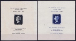 UK The Centenary Of The Adhesive Stamp, 1840 - 1940  27th Philatelic Congress Of Great Britain At Bournmouth 1940 Postal - 1840-1901 (Victoria)