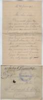 TB 2660 - Lettre En Franchise Militaire - Dépot D'Eclopés De BAINVILLE - SUR - MADON Pour St LAURENT - LES - MACON - Guerra De 1914-18