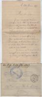 TB 2662 - Lettre En Franchise Militaire - Dépot D'Eclopés De BAINVILLE - SUR - MADON Pour St LAURENT - LES - MACON - Guerra De 1914-18