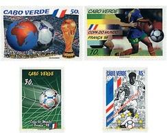 Ref. 37376 * MNH * - CAPE VERDE. 1998. FOOTBALL WORLD CUP. FRANCE-98 . COPA DEL MUNDO DE FUTBOL. FRANCIA-98 - Kap Verde