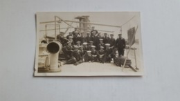 ANTIQUE ORIGINAL PHOTO PORTUGAL NAVYS BATTALION IN WAR SHIP - Guerre, Militaire