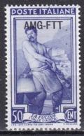 Repubblica Italiana, 1950/53 - AMG-FTT 50c Italia Al Lavoro Fil. Ruota - Nr.89 MNH** - Mint/hinged