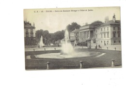 Cpa - 37 - Tours - Entrée Boulevard Béranger Palais De Justice - G.B. 45 - Kiosque Publicité MAGGI Tramway - 1913 - Tours