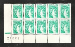 France, 1967a, Barre Phosphorescente à Gauche, Bloc De 10 Timbres, Non Plié, Neuf **, TTB, Sabine De Gandon - 1977-81 Sabina Di Gandon