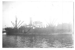"""Photo Récente Bateau """" Saumur """" S.N.D.V.Delmas Vieljeux 1921 Alloa 1942 Saisi Par Italie Coulé En 44 HMS Upstart - Riproduzioni"""
