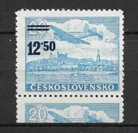 O-043 SLOVAKIA 1949 -AIRMAIL, CAT. MICHEL NUNNER  592 -MNH** - Tschechoslowakei/CSSR