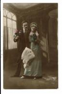 CPA-Carte Postale-France -Bonne Année Avec Un Couple  VM7406 - Nouvel An